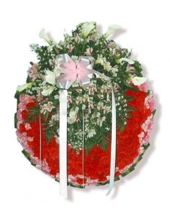 carnations round crown