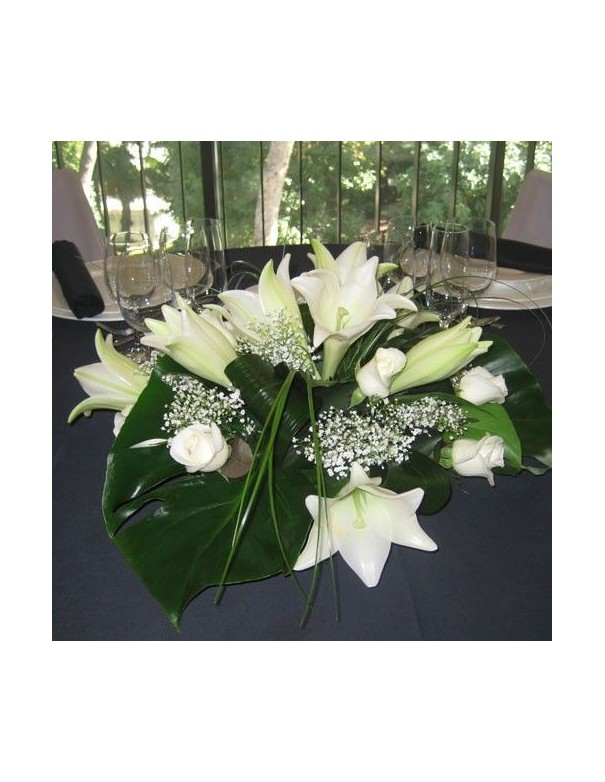 Center Table with Lilies