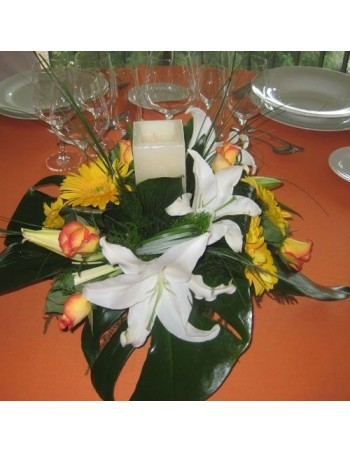 Centerpiece with Gerberas