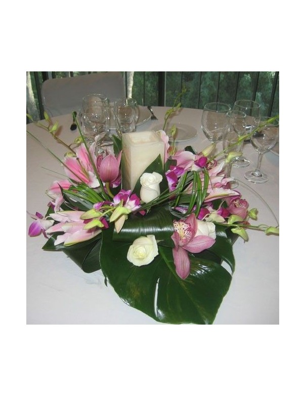 And Orchids Centerpiece
