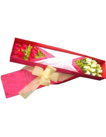Box of assorted roses
