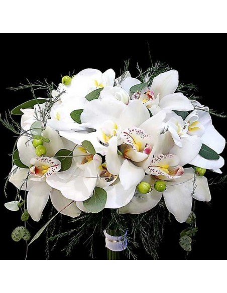 Bridal Bouquet in orchids