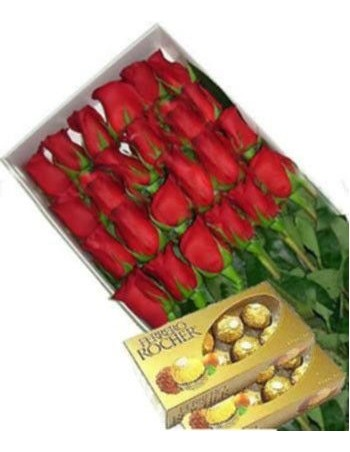 Roses and chocolates ferrero