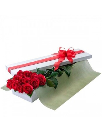 Box of red roses
