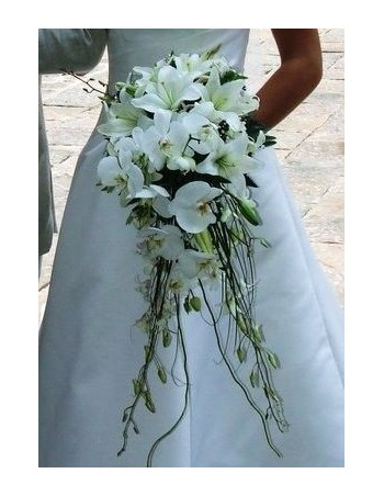 Bridal Bouquet developed in orchids and lilies
